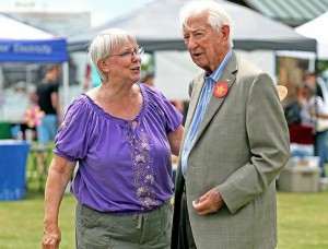 """Stewart F. House/Special Contributor U.S. Rep. Ralph Hall greets Ann Ranson of Dallas at the festival. """"I'm supposed to represent people. And you can represent them better if you know them,"""" he said."""