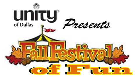 October 4:  Unity of Dallas Fall Festival of Fun